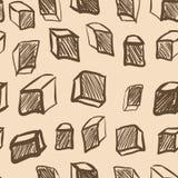 与葡萄酒立方体的无缝的纹理 库存照片