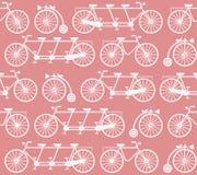 与葡萄酒自行车的无缝的样式 免版税库存照片