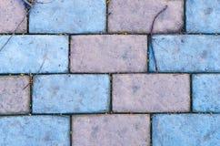 与葡萄酒颜色的砖地板 免版税库存图片