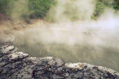 热的湖 库存图片