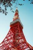 与蓝天的东京塔 免版税库存图片