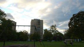与蓝天的共产主义大厦 股票视频