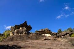 与蓝天的石森林秀丽 免版税库存照片