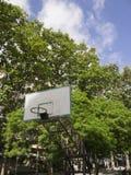 与蓝天的篮球篮子 免版税库存照片