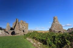 与蓝天Stonehaven的Dunnottar城堡 免版税图库摄影