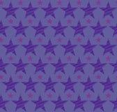 与蓝星的无缝的蓝色背景 10 eps 免版税库存图片