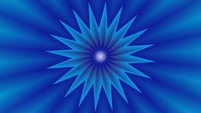 与蓝星的背景在中部 免版税库存照片