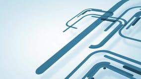 与蓝线和正方形,圈的抽象背景 库存例证