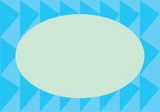 与蓝色三角的卡片 免版税库存照片