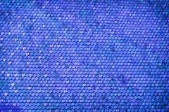 与蓝色八角形物形状梯度的抽象背景 库存照片