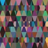 与蓝色和灰色三角的无缝的几何难看的东西纹理 库存照片