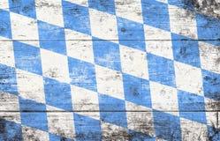 与蓝色和白色菱形样式的慕尼黑啤酒节背景 库存照片