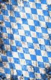 与蓝色和白色菱形样式的慕尼黑啤酒节背景 图库摄影