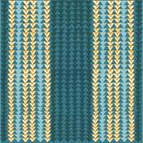 与蓝色和黄色三角的几何无缝的样式 库存图片