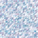 与蓝色和紫色任意色的三角的几何背景 无缝的模式 图库摄影