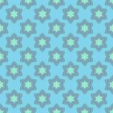 与蓝色响铃的花无缝的样式。 免版税库存照片