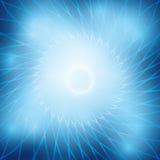 与蓝色圆的栅格的明亮的抽象背景 库存图片