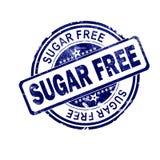 与蓝色圆的邮票的糖自由词 皇族释放例证