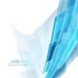与蓝色弯曲的条纹的抽象背景 免版税库存照片