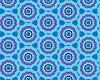 与蓝色抽象装饰品的无缝的纹理 免版税库存图片