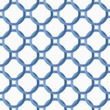 与蓝色梯度圆环的无缝的样式 免版税库存照片