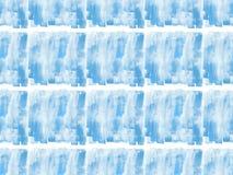 与蓝色水彩油漆斑点的无缝的样式, 库存照片