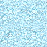 与蓝色泡影的背景样式 免版税库存照片