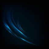 与蓝色波浪的传染媒介背景 免版税库存照片