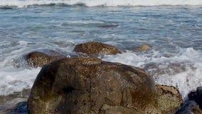 与蓝色海的海景 股票录像