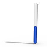 与蓝色液体的试管 免版税库存图片