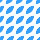 与蓝色瓣的无缝的传染媒介样式 库存照片