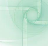 与蓝色的抽象绿松石光背景上色了立体派 免版税库存图片