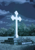 与蓝色的Frauenkirchen华丽垫座十字架posterize作用 库存照片