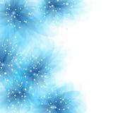 与蓝色花的传染媒介背景 库存照片