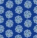 与蓝色花的无缝的背景 免版税库存图片