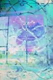 与蓝色葡萄酒门的抽象,艺术性的背景 库存图片