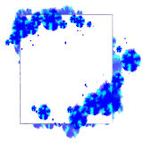 与蓝色补丁的抽象背景 图库摄影