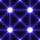 与蓝色被连接的点的黑暗的无缝的背景 库存图片