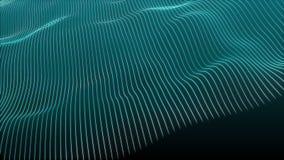 与蓝色轻的数字公司概念的美好的抽象波浪技术背景 库存例证