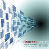 与蓝色颜色的抽象背景,曲线反对使用的transpare 免版税库存图片