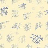 与蓝色Tic TAC脚趾的无缝的纹理 免版税库存照片