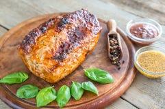 与蓬蒿的烤猪肉 免版税图库摄影