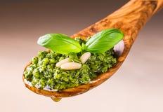 与蓬蒿的Pesto调味汁 图库摄影