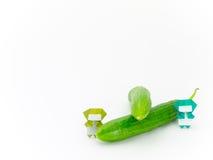 与蔬菜和水果的Origami Ninja 免版税图库摄影