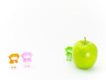 与蔬菜和水果的Origami Ninja 库存照片