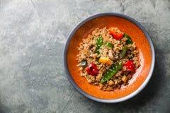 与蔬菜的米 免版税库存照片