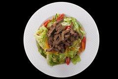 与蔬菜的肉 免版税库存照片