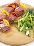 与蔬菜的肉 库存图片