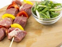 与蔬菜的肉 免版税图库摄影