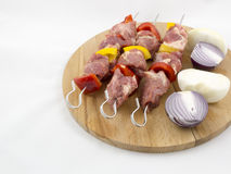 与蔬菜的肉 免版税库存图片